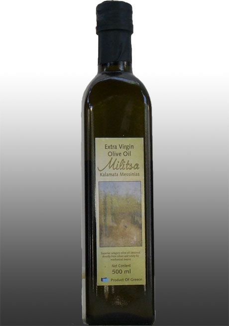 Extra Virgin Olive Oil Militsa 500 ml