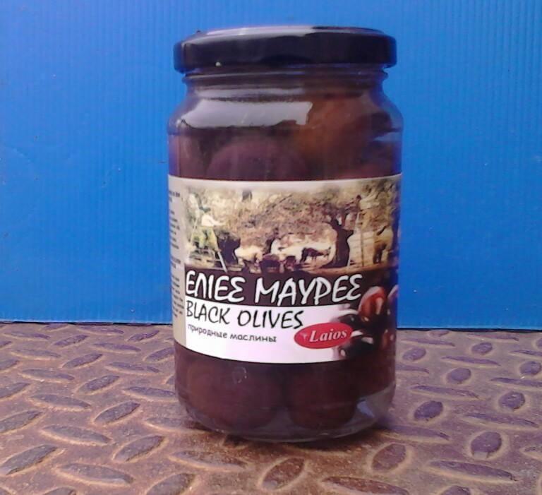 Black olives 370 gr (glass)