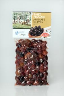 Manaki olives vacuum 250 gr